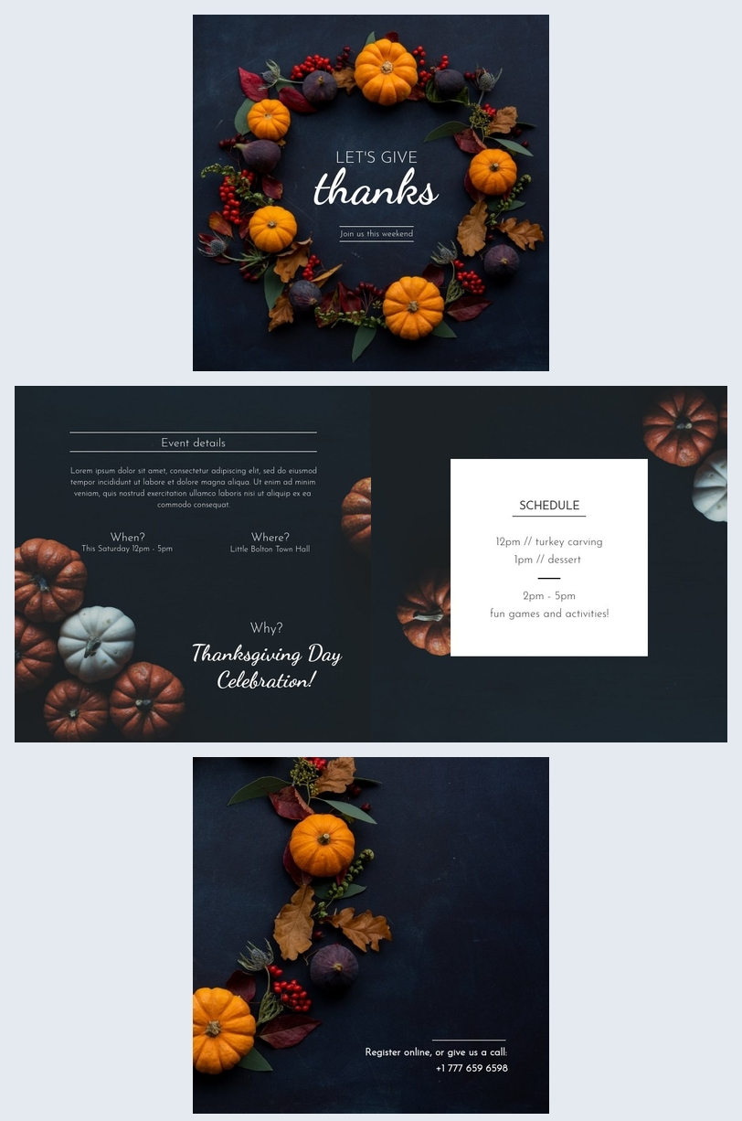 Free Event Brochure Template