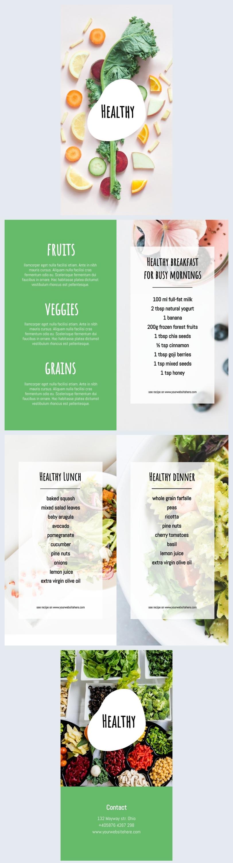 Healthy Eating Brochure Template