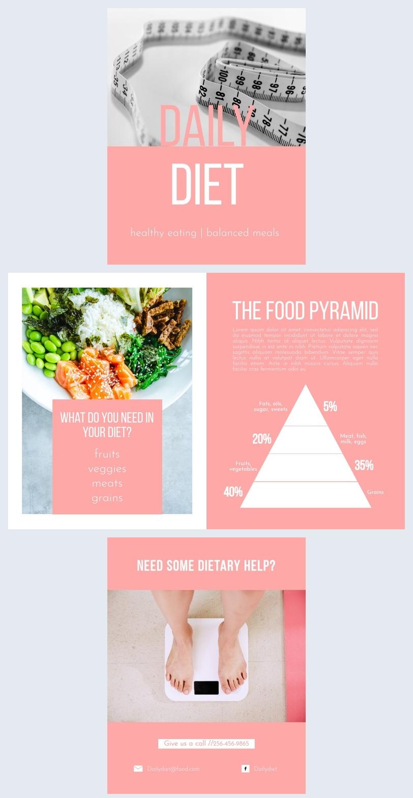 Lebensmittel- Broschürenvorlage