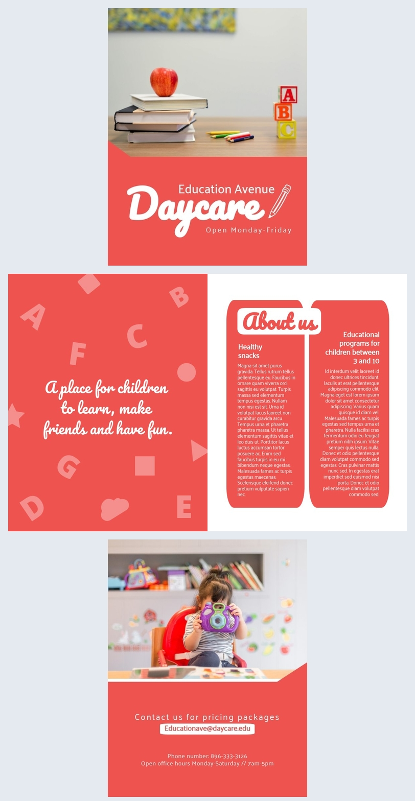 Modelo de Brochura de Creche