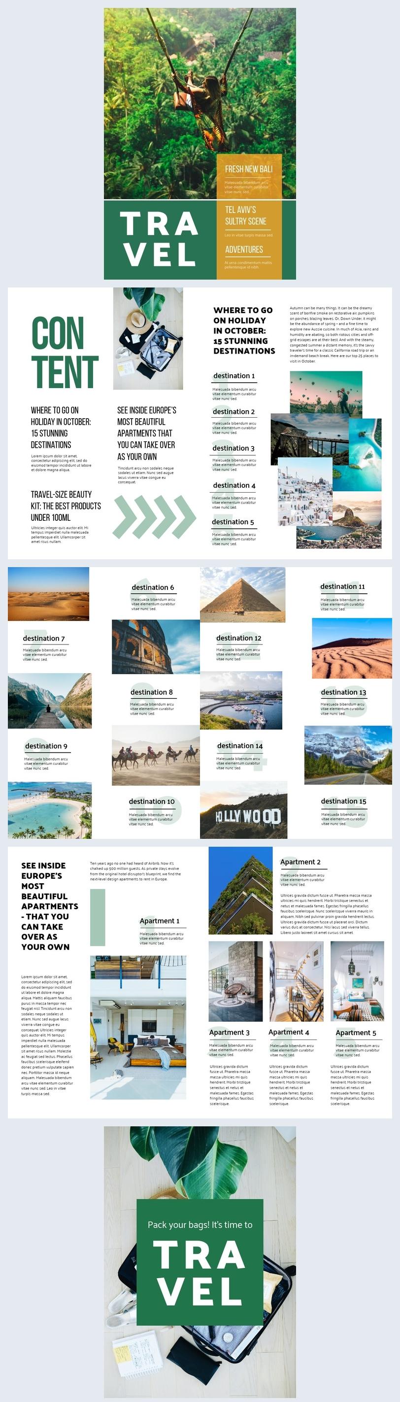 Diseño para revista de viajes