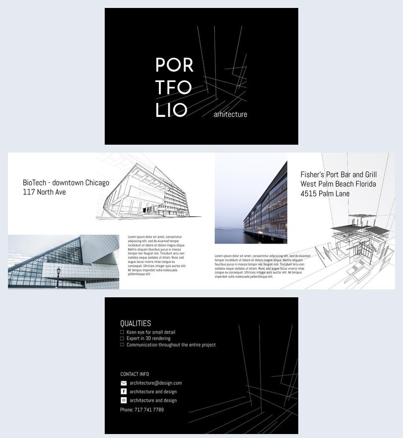 Architekturportfolio für Studenten