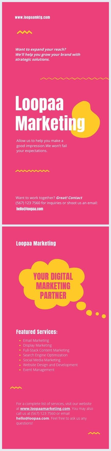 Modello per volantino di marketing