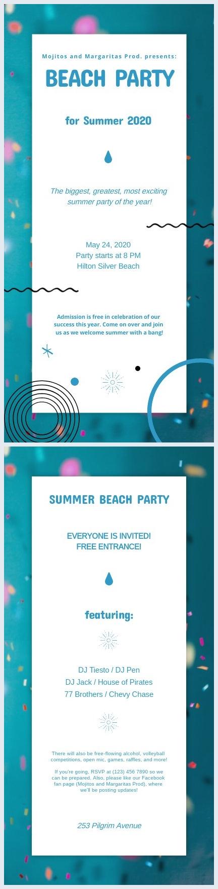 Kostenlose Party Flyer Vorlage