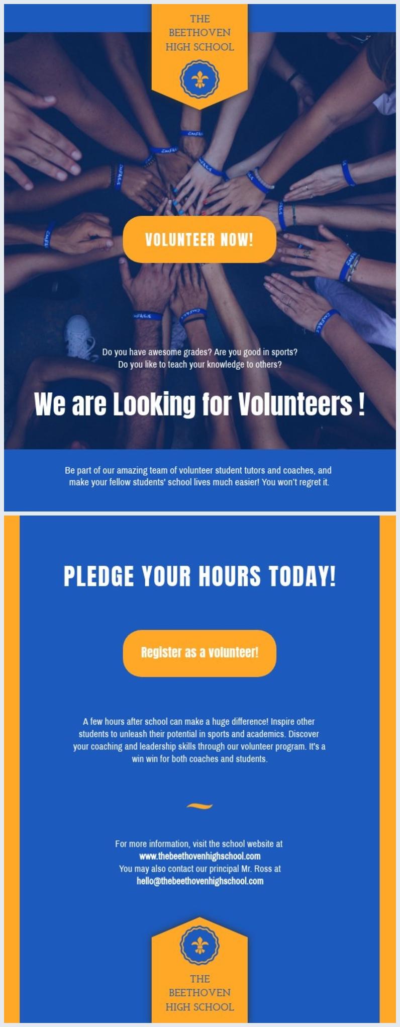 Plantilla para volante de voluntario