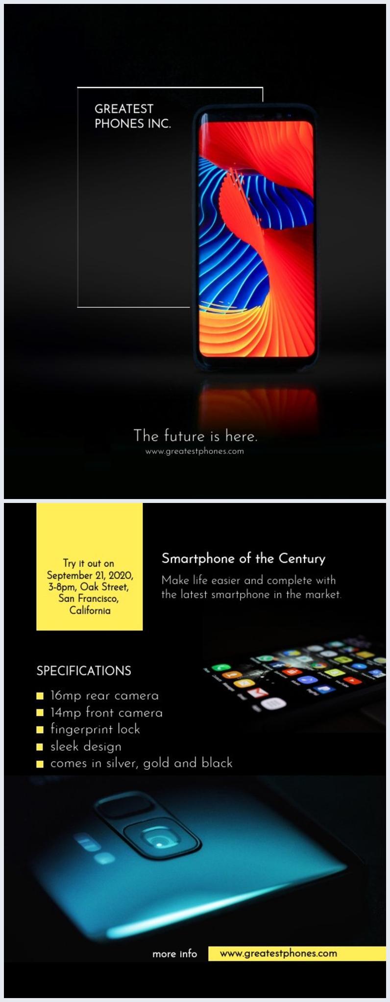 Product Brochure Sjabloon
