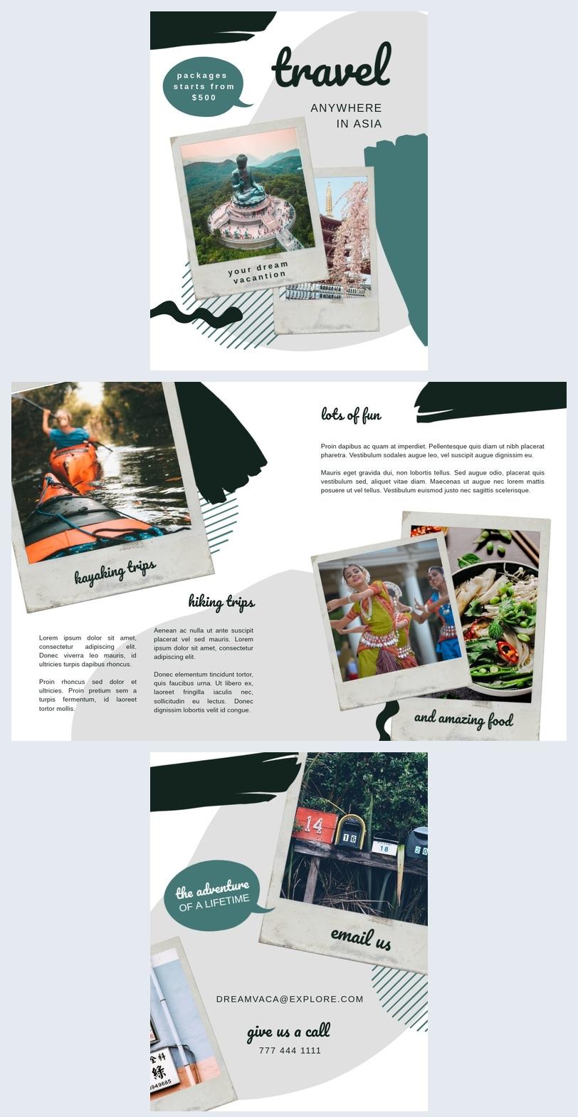 Reisbrochure Ontwerp
