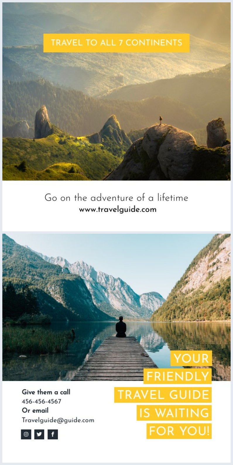 Informative Travel Brochure Template Example