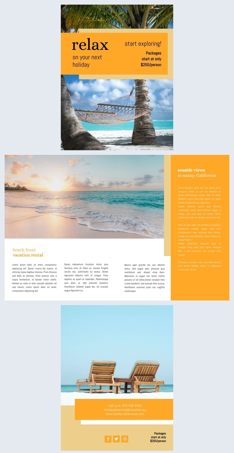 Holiday Brochure Template