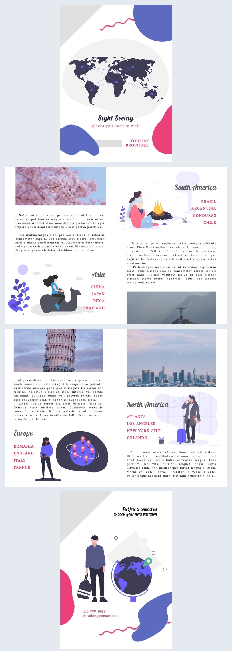 Modelo de Brochura de Turista