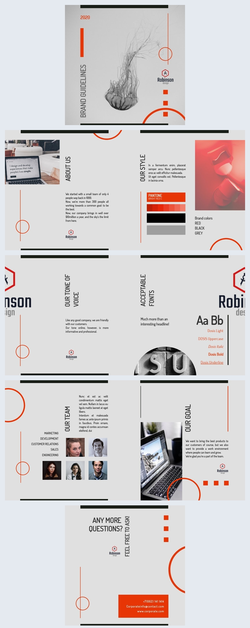 Simple Brand Guidelines Template