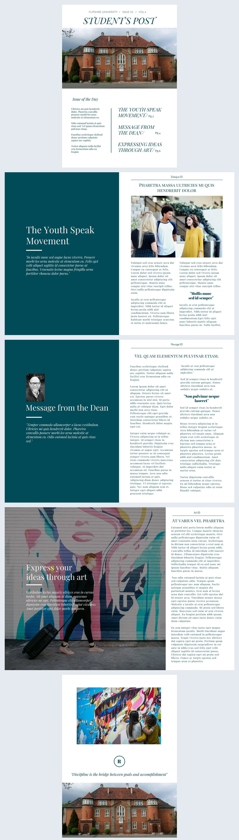 Modern School Newspaper Design