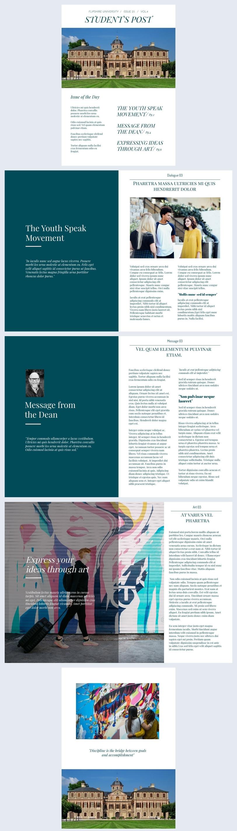 Design de Jornal de Escola Moderno