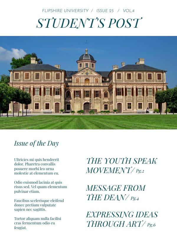 Modern School Newspaper Design