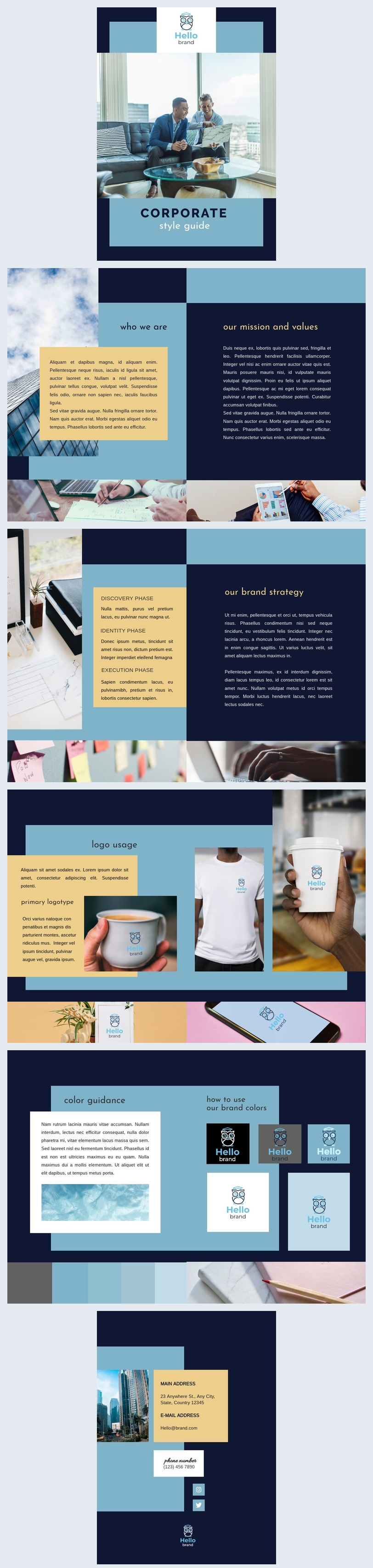 Corporate Style Guide Template