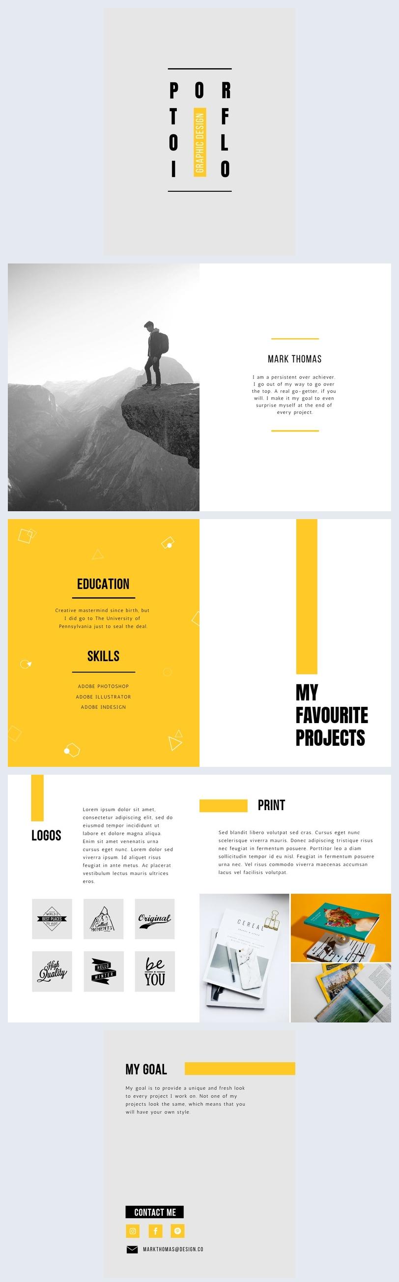 Grafikdesign Portfolio Vorlage
