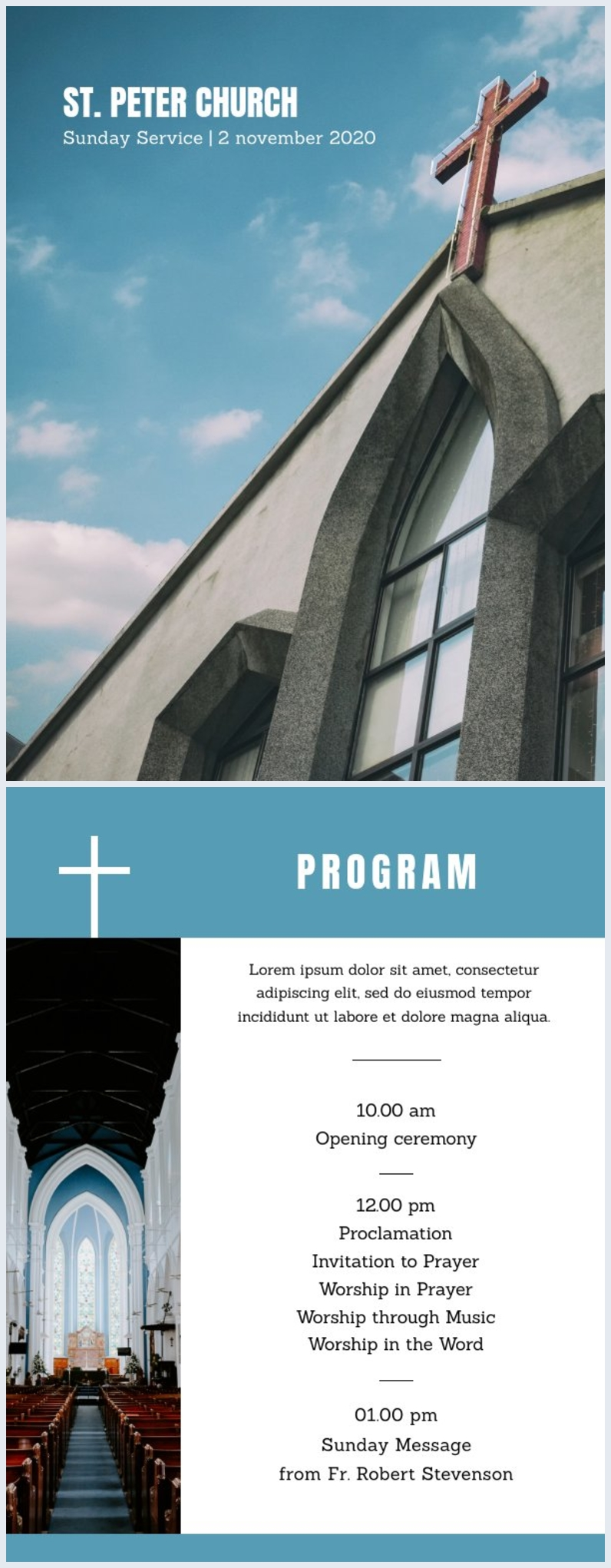 Church Program Template