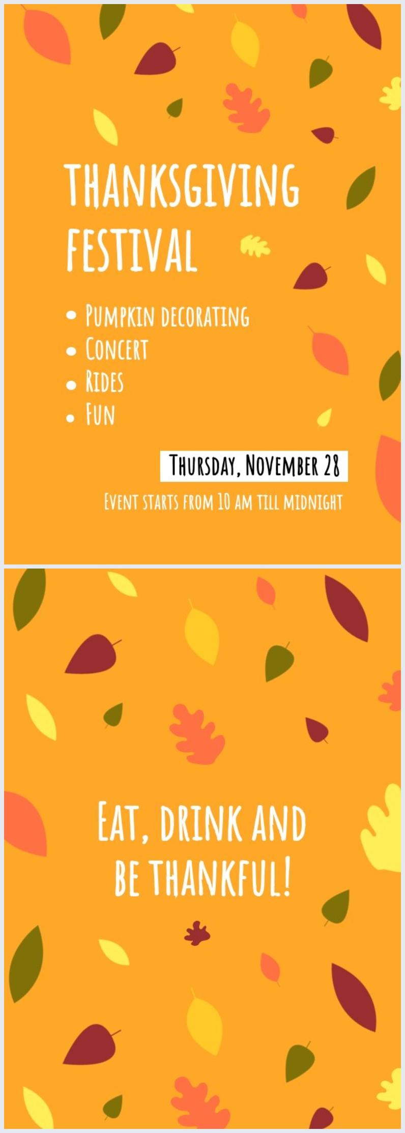 Thanksgiving Program Template