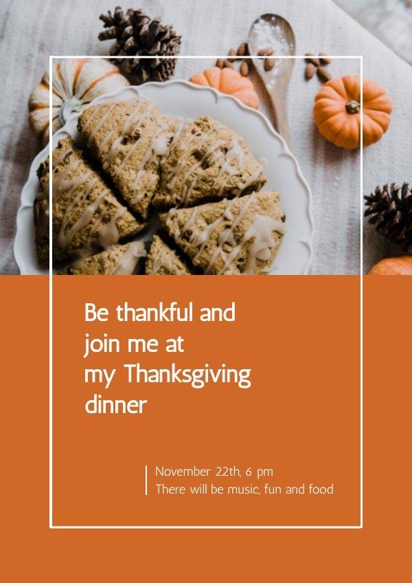 Modello di invito per il Ringraziamento