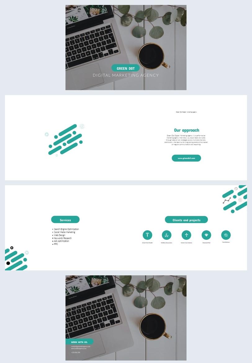 Modello per opuscolo di marketing digitale
