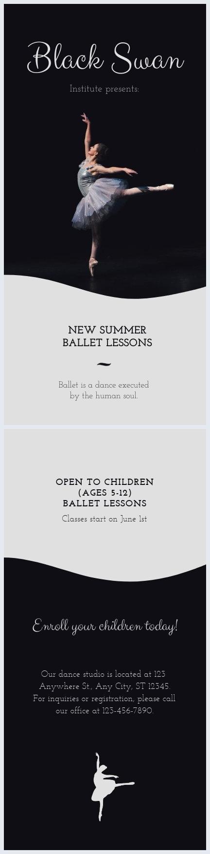Elegant Ballet Flyer Template