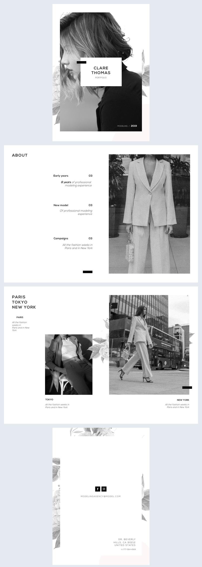Mode Portfolio Sjabloon