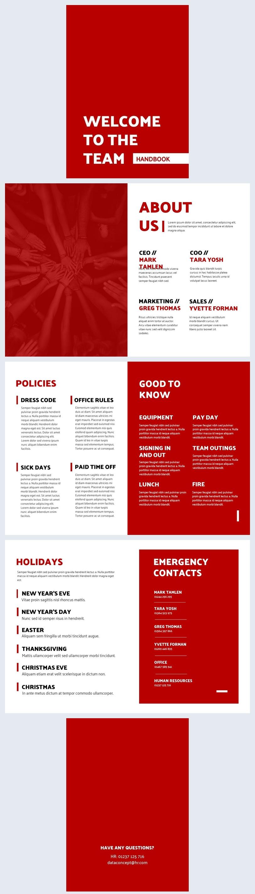Company Handbook Template