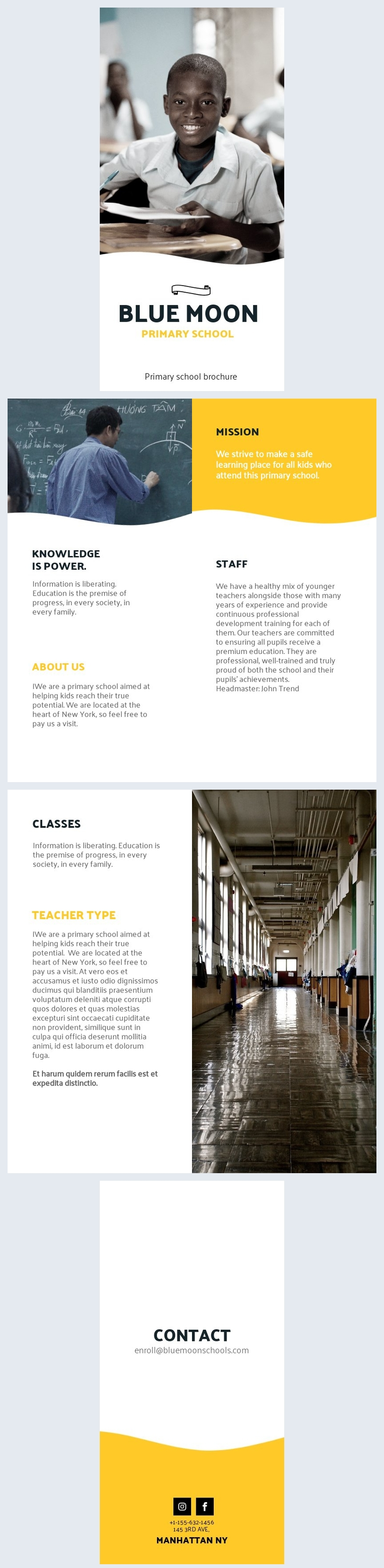 Primary School Brochure Template