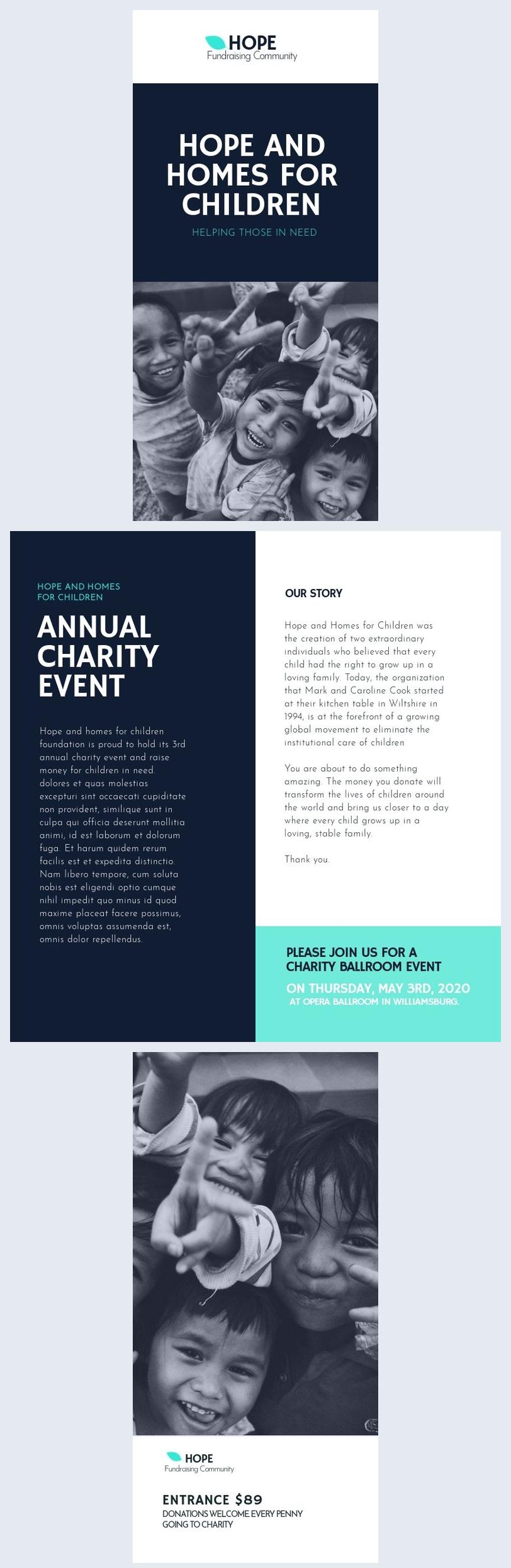 Modelo de Brochura de Angariação de Fundos
