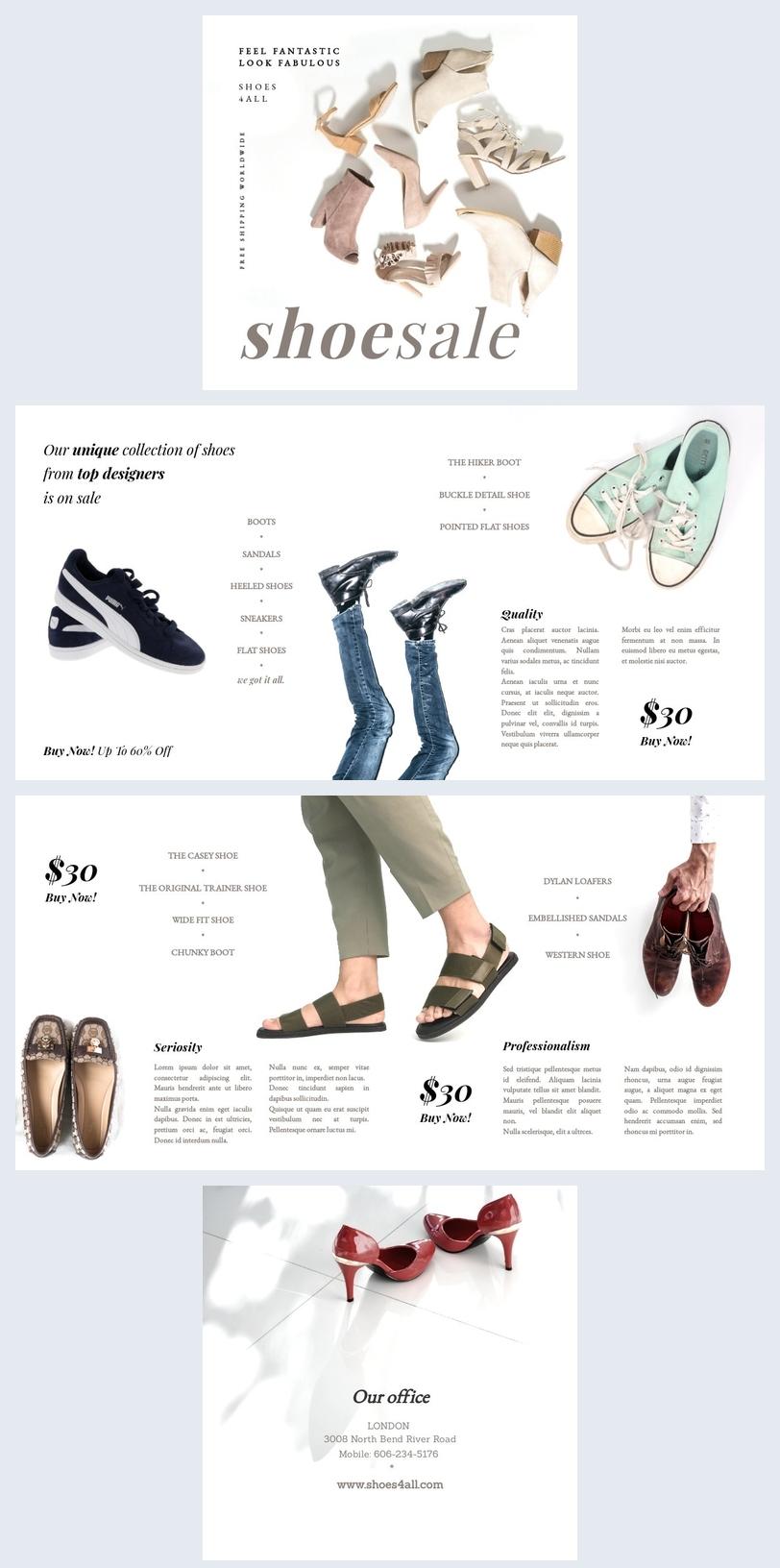 Modèle de catalogue de promotion