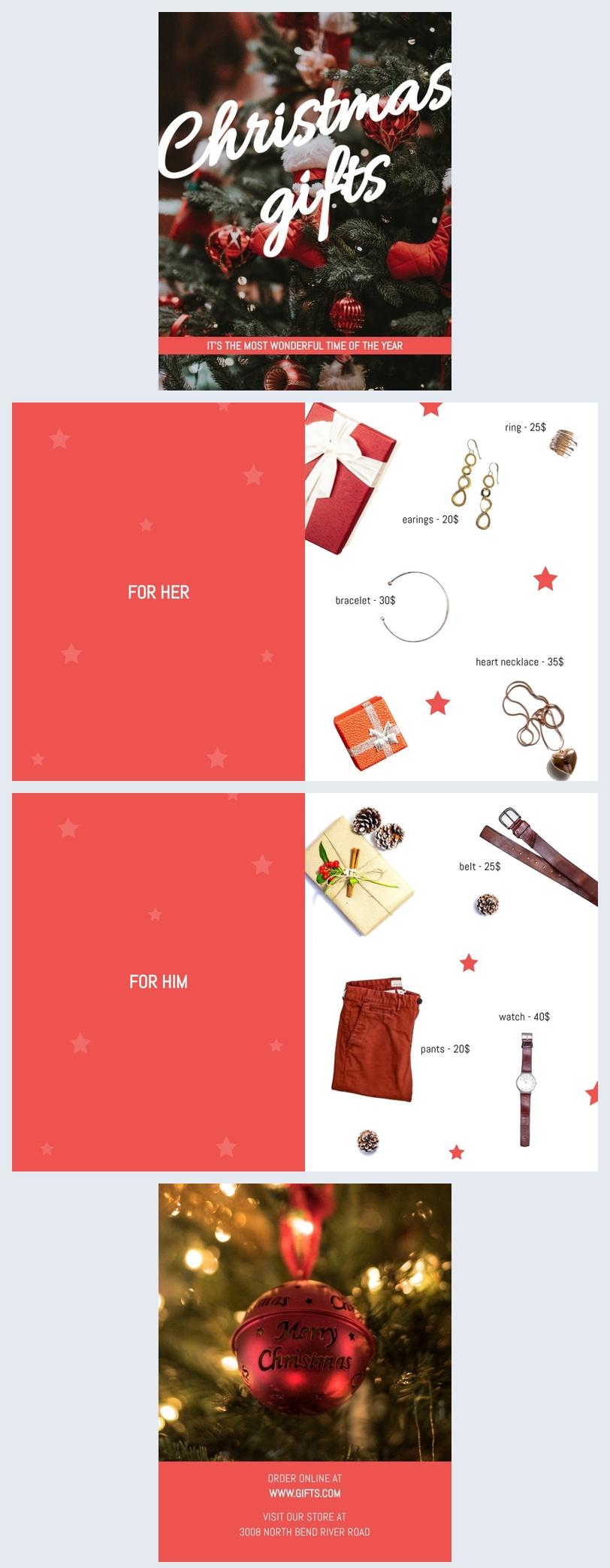 Modello per catalogo natalizio