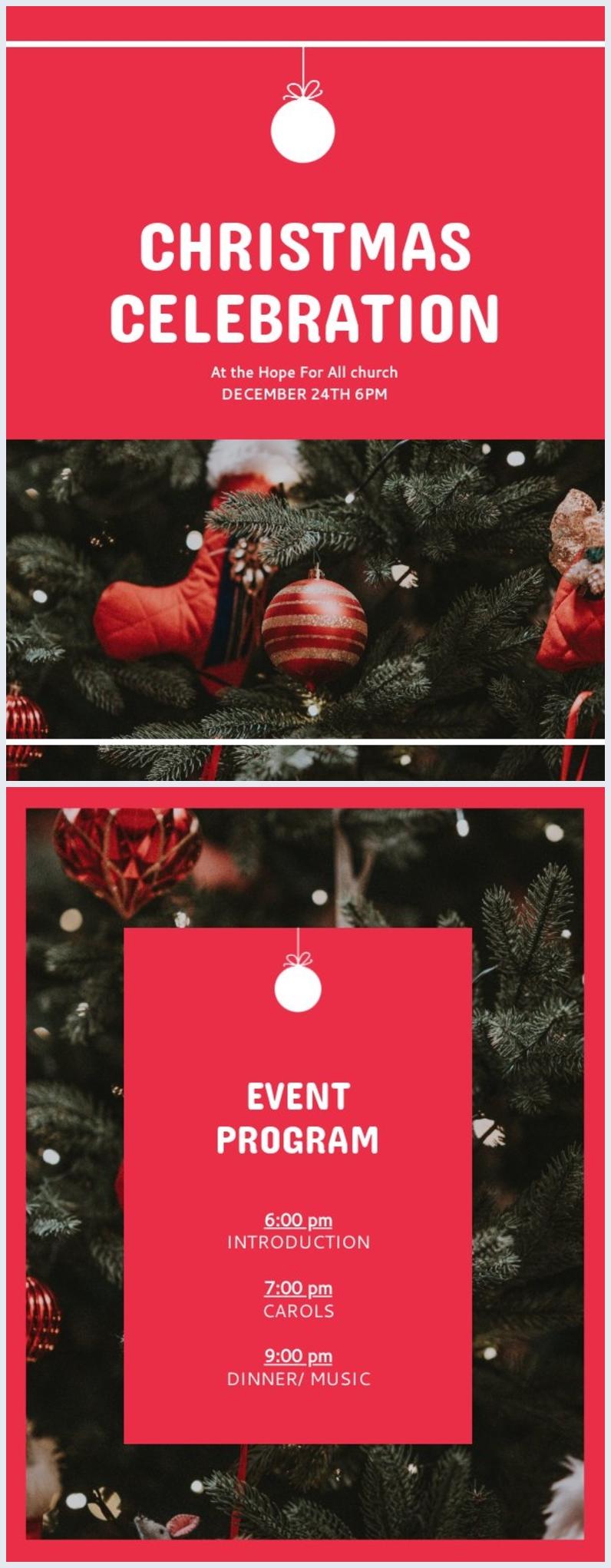 Plantilla para programa navideño