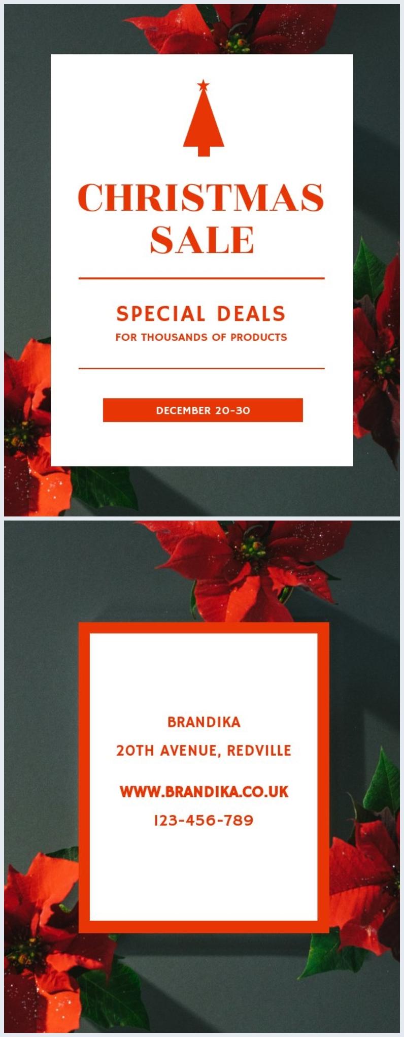 Volantino per vendita natalizia