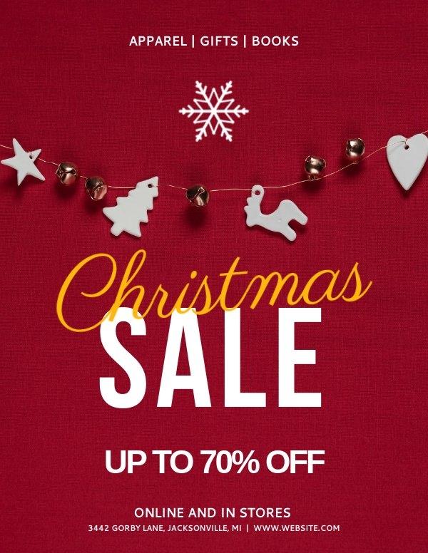 Plantilla para cartel de venta navideña