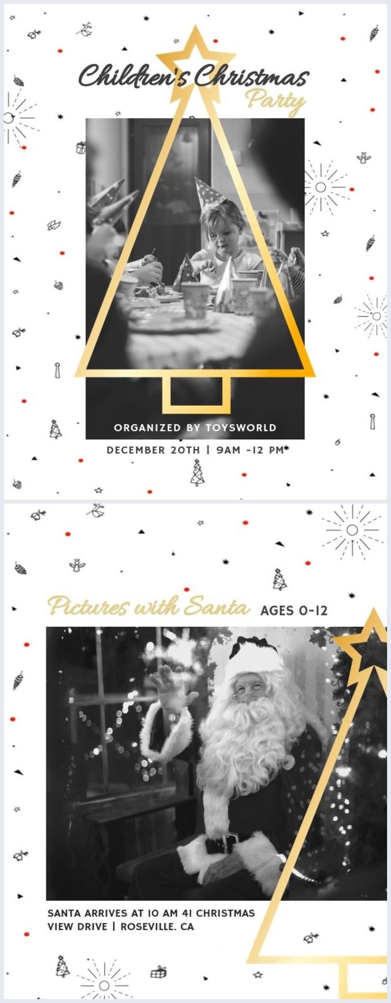 Weihnachts-Flyer-Vorlage