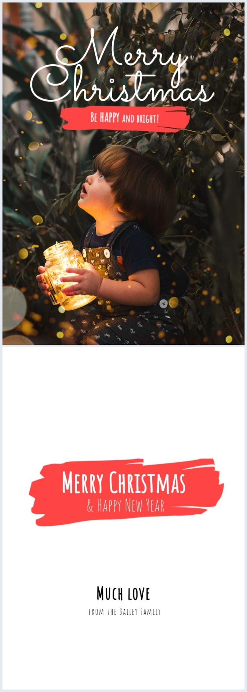 Modelo de Cartão de Natal com Foto Grátis
