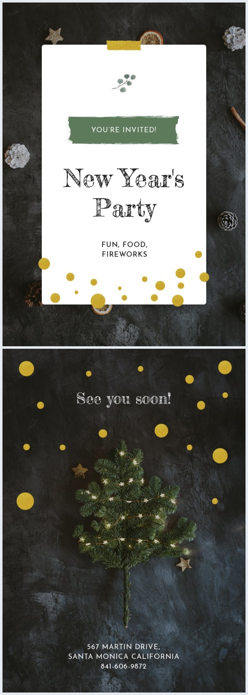 New Year Invitation Card Template