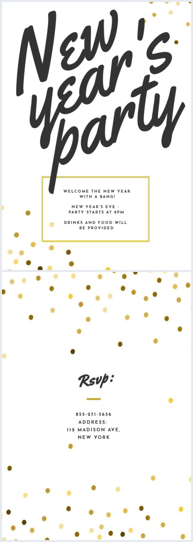 New Year's Eve Party Invite Template