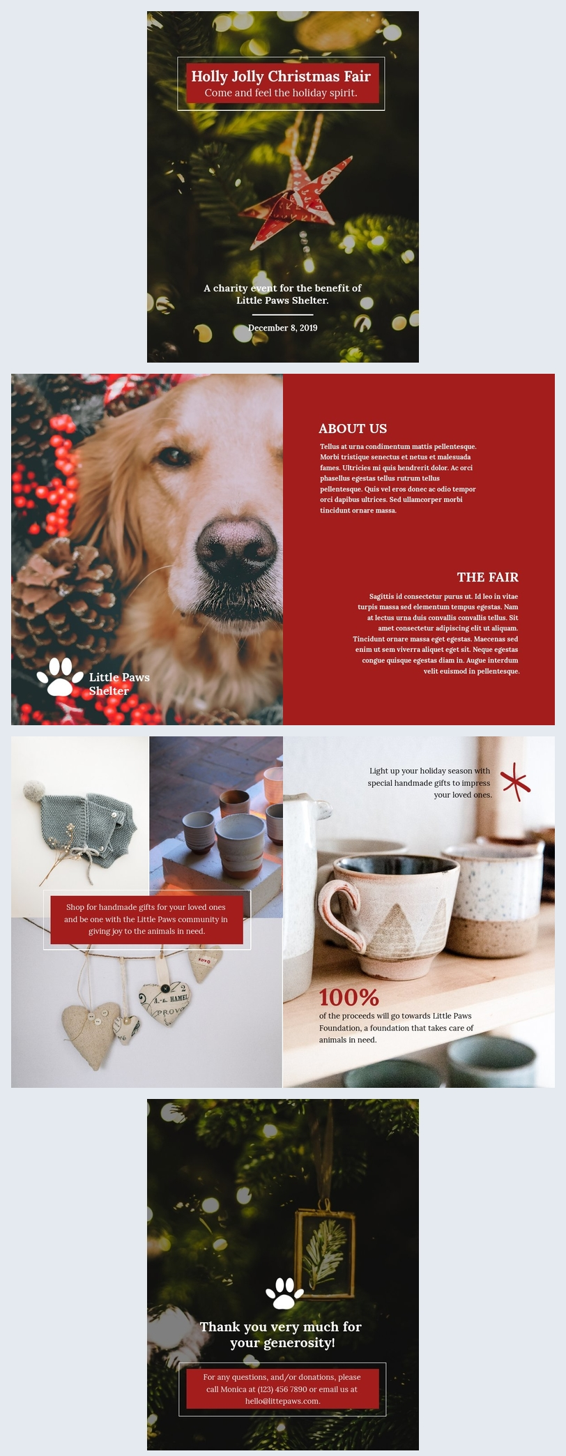 Free Christmas Brochure Template