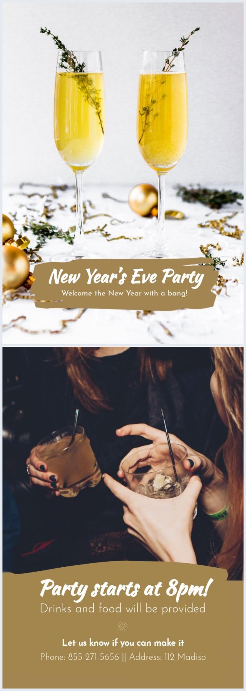 Modèle d'invitation au nouvel an