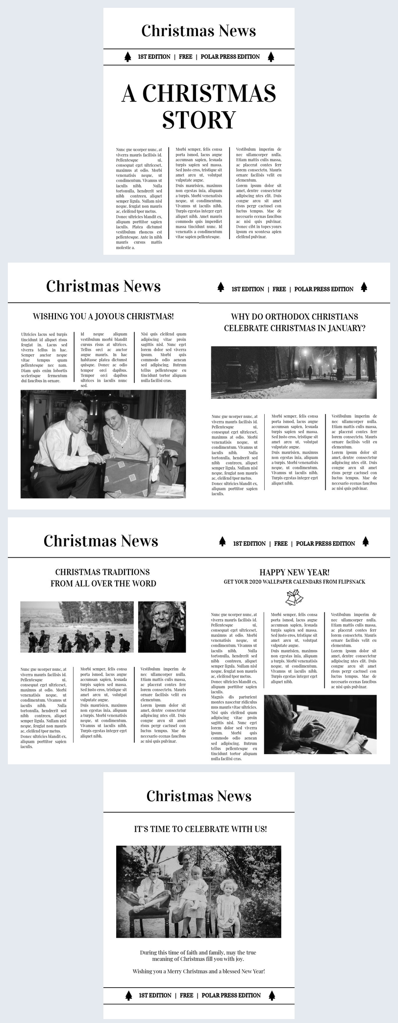 Free Classic Christmas Newspaper Template Flipsnack