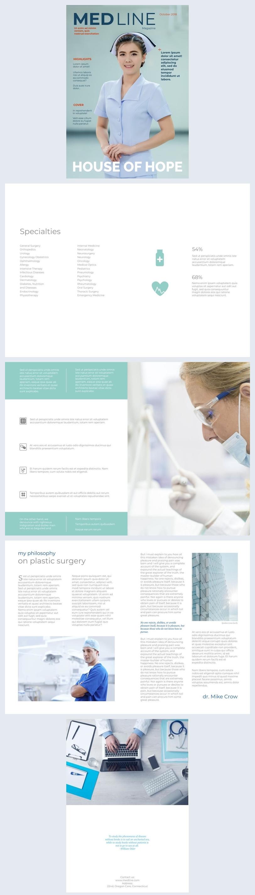 Medisch Brochureontwerp en voorbeelden