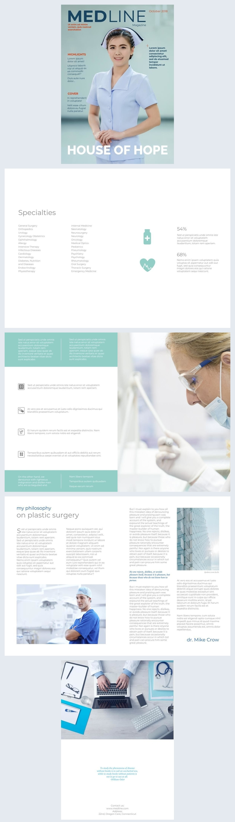 Design e Exemplos de Brochuras Médicas