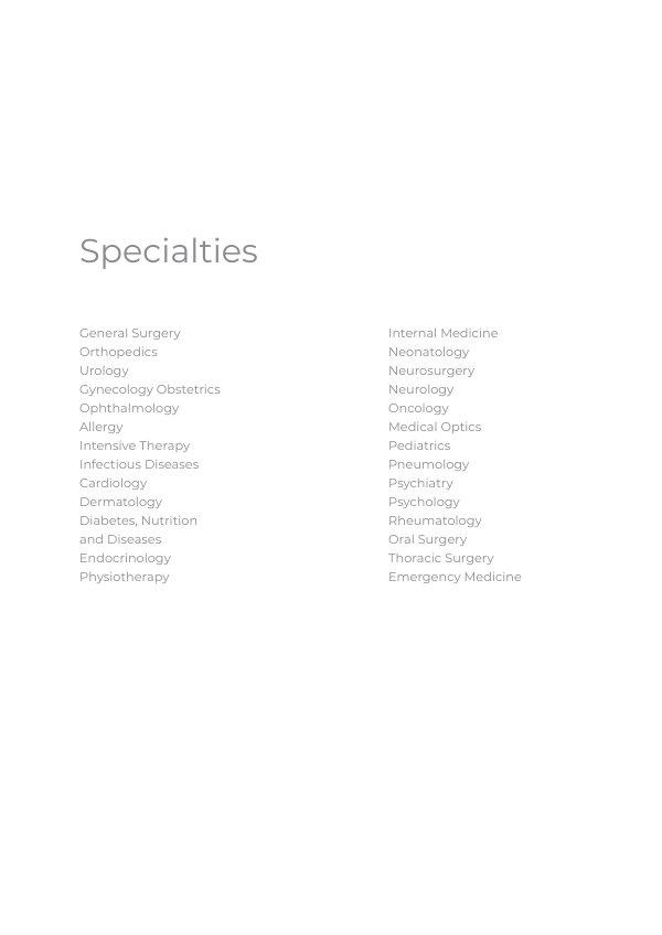 Vorlage für eine Broschüre im Bereich Medizin & Gesundheitswesen ...
