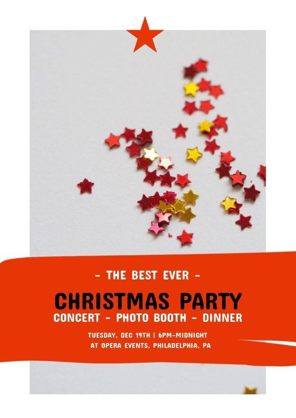 Plantilla para cartel de fiesta navideña