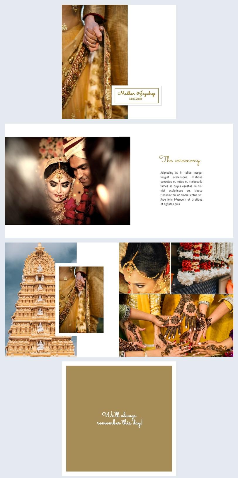 Plantilla de La India para álbum de bodas