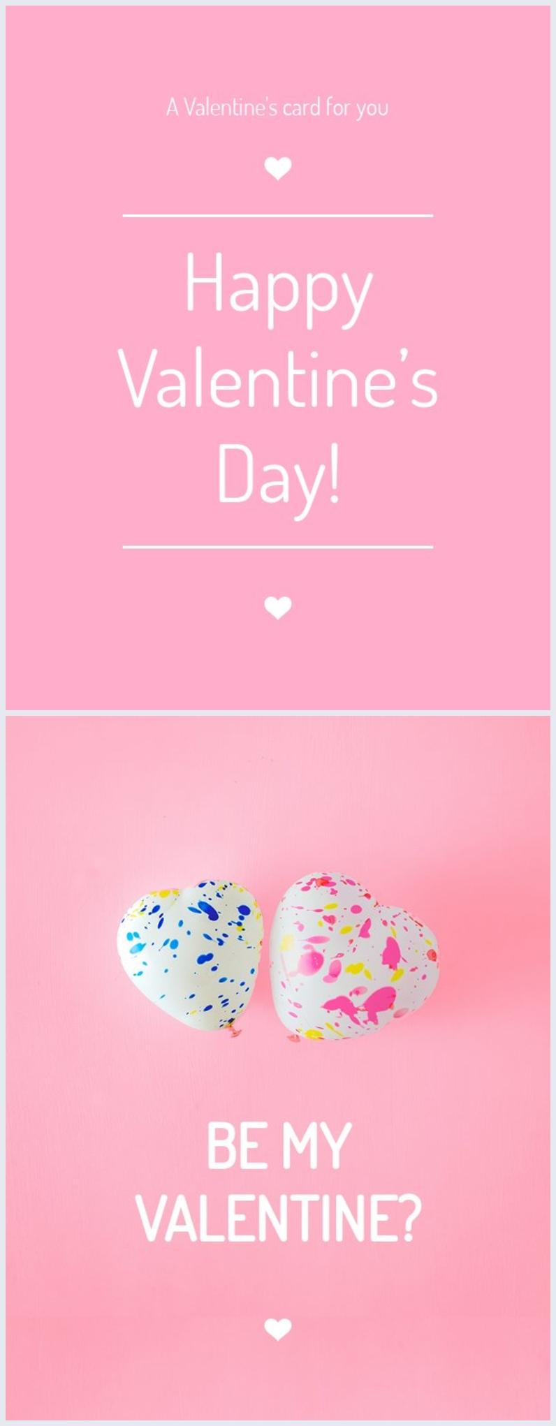 Plantilla gratuita para tarjeta del Día de San Valentín