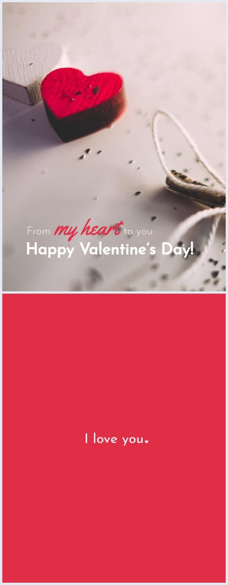 Plantilla para tarjeta de Día de San Valentín