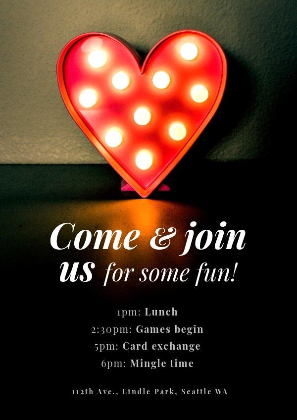 Valentine's Day Program Template