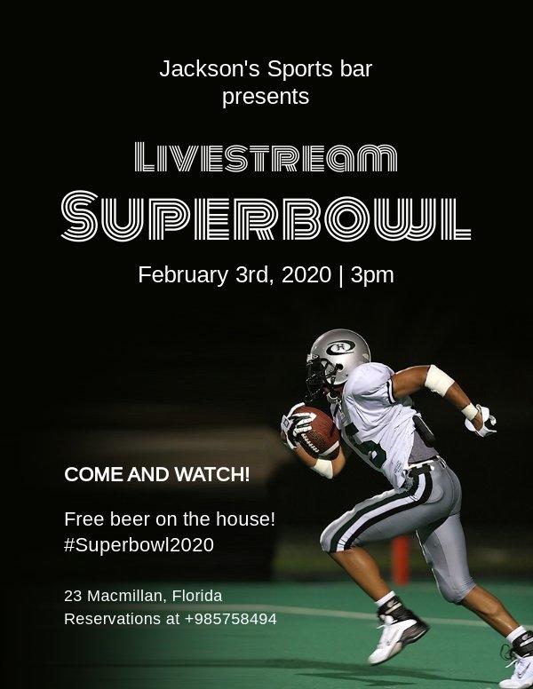 Superbowl Party Einladungsvorlage